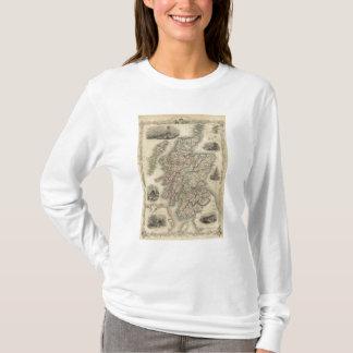 Camiseta Scotland com o mapa inserir das ilhas de Shetland