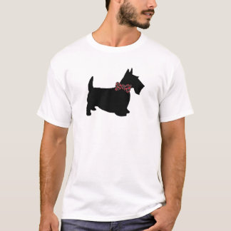 Camiseta Scottie no t-shirt do laço da xadrez