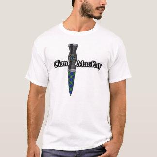 Camiseta Scottish Sgian Dubh do Tartan de MacKay do clã