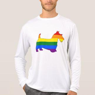 Camiseta Scottish Terrier do arco-íris