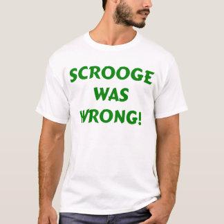 Camiseta Scrooge era errado