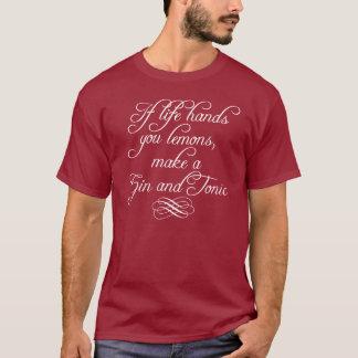 Camiseta Se a vida lhe entrega limões