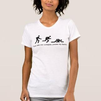 Camiseta Se eu desmorono, pausa meu Garmin!