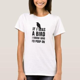 Camiseta Se eu era um pássaro mim saiba quem eu tombadilho