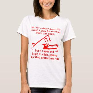 Camiseta Se eu giro e começo a deslizar por favor proteja
