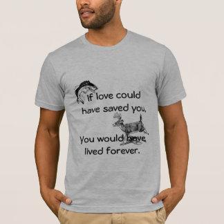 """Camiseta """"Se o amor poderia o ter salvar"""" memorial do"""