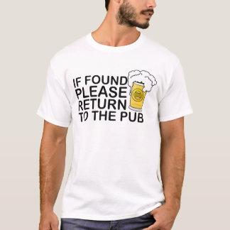 Camiseta se retorno por favor encontrado à cerveja do