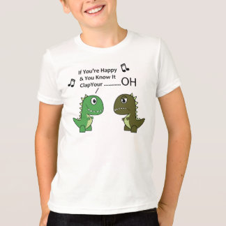 Camiseta se seus felizes e você o sabem o t-rex caçoa