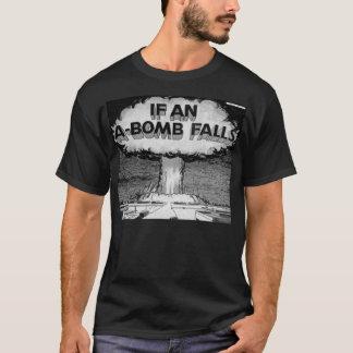 Camiseta Se uma bomba atómica cai t-shirt da arte da banda