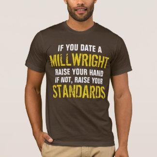 Camiseta Se você data um aumento do MILLWRIGHT sua mão
