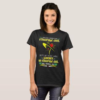 Camiseta Se você é afortunado a menina etíope tratá-lo-á