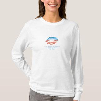 Camiseta Se você pôr o batom sobre um t-shirt republicano…