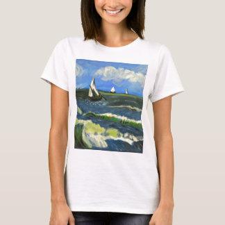 Camiseta Seascape em Saintes-Maries, Van Gogh