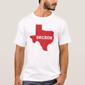 Camiseta Secede o t-shirt do humor de Texas