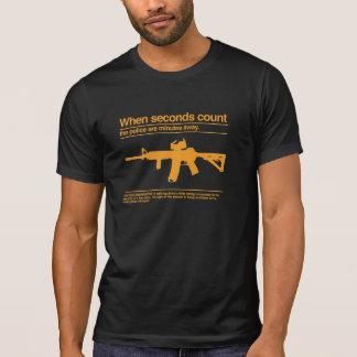 Camiseta Segunda alteração/AR-15/polícia