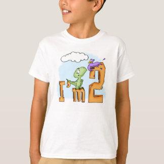 Camiseta Segundo aniversário do divertimento de Dino