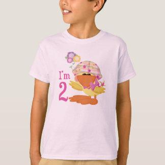 Camiseta Segundo aniversário Ducky da menina