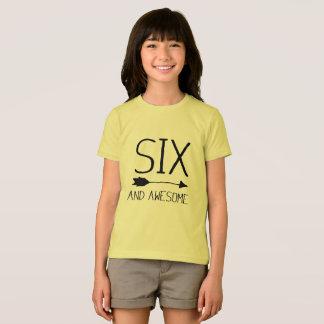 Camiseta Seis e 6o presente de aniversário impressionante