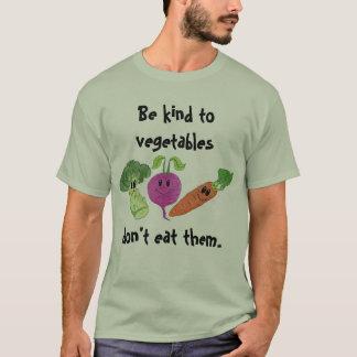 Camiseta Seja amável aos vegetais