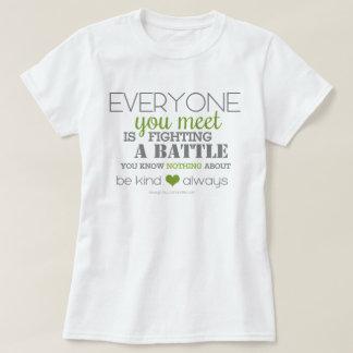 Camiseta Seja amável sempre (o verde)