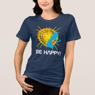 Camiseta Seja customizável bonito um--um-amável feliz