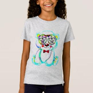 Camiseta seja miúdos espertos do design do t-shirt do urso