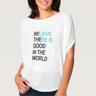 Camiseta Seja o bom na parte superior do círculo de Flowy