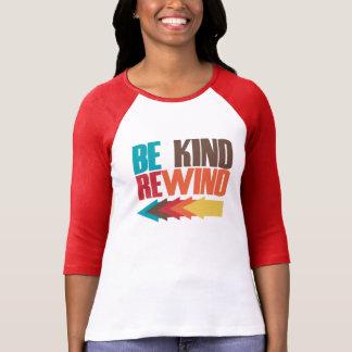 Camiseta Seja o humor 80s retro da rebobinação amável