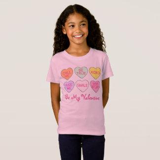 Camiseta Seja o T dos meus namorados dos corações dos doces