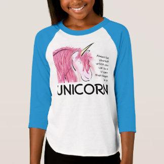 Camiseta Seja sempre você mesmo meninas de 3/4 de T