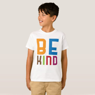 Camiseta Seja T feliz colorido amável