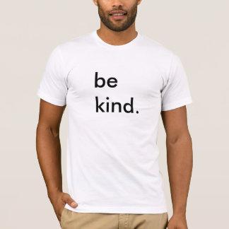Camiseta Seja t-shirt branco amável