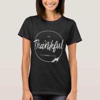 "Camiseta ""Seja"" t-shirt escuro inspirado grato"