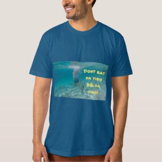 Camiseta Seja TShirt orgânico do algodão dos homens dos