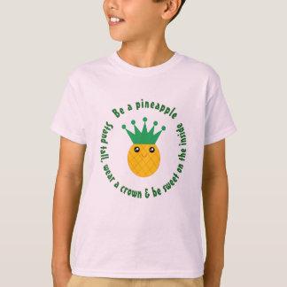 Camiseta Seja umas citações inspiradas do abacaxi