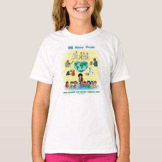 Camiseta SEJA valores humanos - design inspirado dos