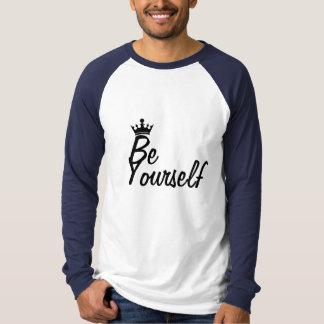 Camiseta Seja você mesmo T do basebol