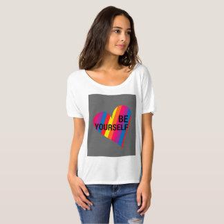 Camiseta Seja você mesmo t-shirt cabido fraco do coração do
