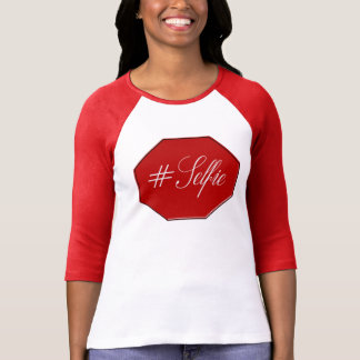 Camiseta #Selfie 2 - O Bella das mulheres 3/4 de luva