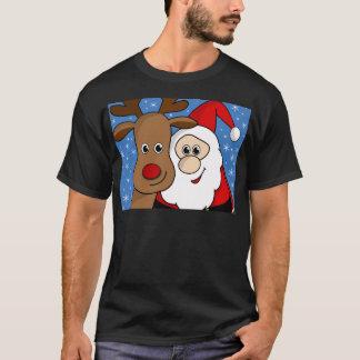 Camiseta Selfie de Rudolph e de papai noel