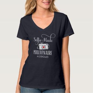 """Camiseta """"Selfie-Fez #LifeGoals do milionário"""""""