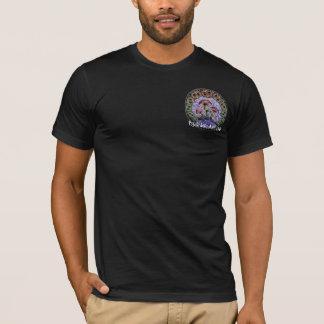 Camiseta sello, clube psicadélico da arte