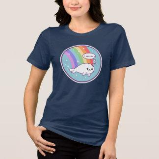 Camiseta Selo bonito do arco-íris