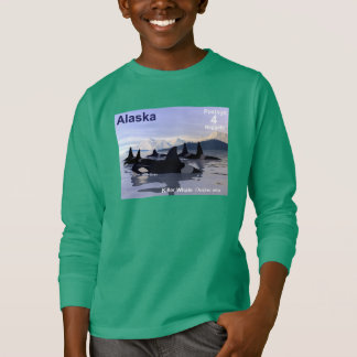 Camiseta Selo das baleias de assassino de Alaska