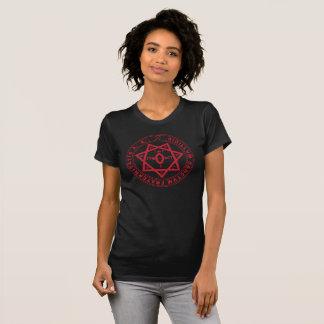 Camiseta Selo de Babylon - edição de texto vermelha