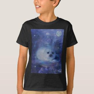 Camiseta Selo de bebê no gelo - Seascape bonito