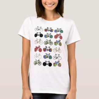 Camiseta selo do teste padrão das bicicletas