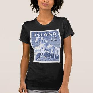 Camiseta Selo postal do cavalo de 1958 islandeses