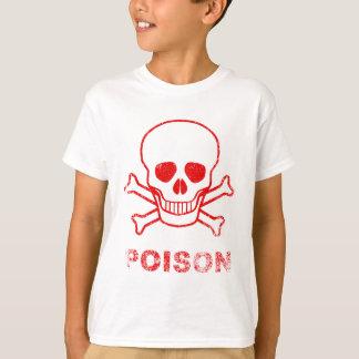 Camiseta Selo vermelho da tinta do veneno