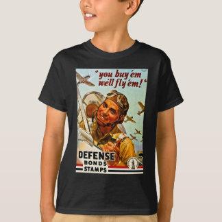 Camiseta Selos das ligações de defesa da segunda guerra